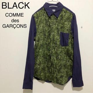ブラックコムデギャルソン(BLACK COMME des GARCONS)の美品 ブラック コムデギャルソン 切り替えデザイン シャツ(Tシャツ/カットソー(半袖/袖なし))