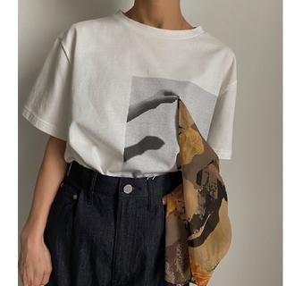 アメリヴィンテージ(Ameri VINTAGE)の新品 訳ありAMERI THREE DIMENSIONAL ART TEE  白(Tシャツ(半袖/袖なし))