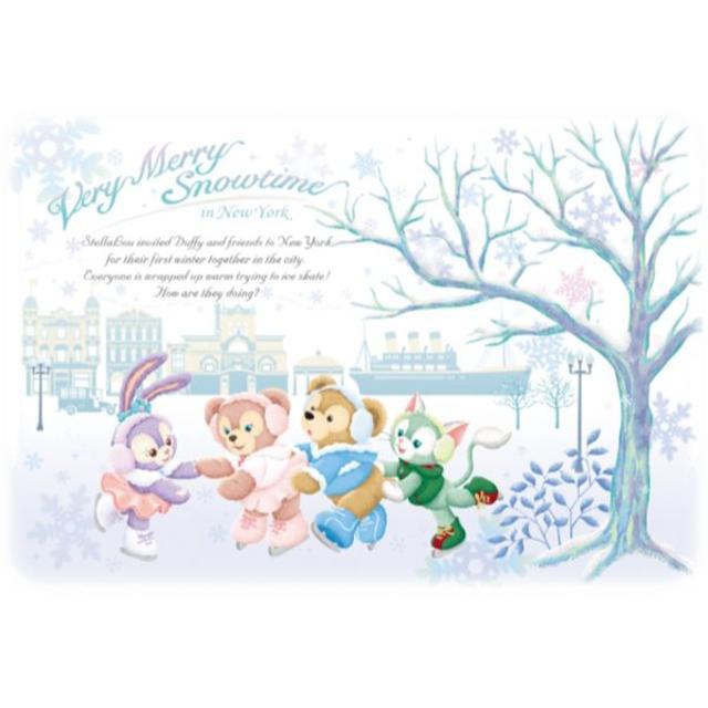 ダッフィー(ダッフィー)のダッフィーのアイススケート スーベニアランチバッグ エンタメ/ホビーのおもちゃ/ぬいぐるみ(キャラクターグッズ)の商品写真
