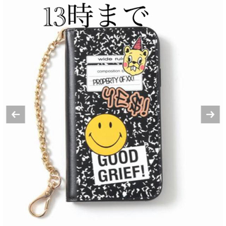 ドゥーズィエムクラス(DEUXIEME CLASSE)のGOOD GRIEF SMILE patched iphone cover(iPhoneケース)
