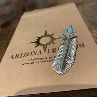 アリゾナフリーダム(ARIZONA FREEDOM)のアリゾナフリーダム ターコイズ 70mm シルバー ハート付フェザー トップ (ネックレス)