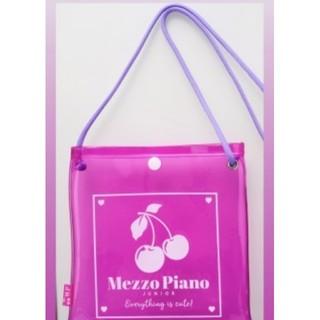 メゾピアノ(mezzo piano)の新品 メゾピアノ ビニールサコッシュ 付録(ポシェット)