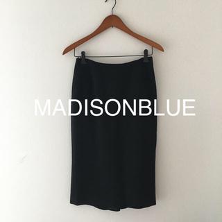 MADISONBLUE - 美品 マディソンブルー  タイトスカート 黒 ブラック