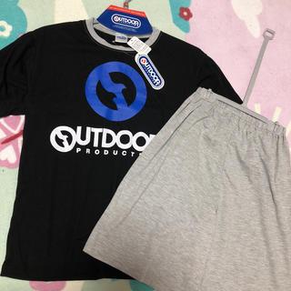 アウトドア(OUTDOOR)の新品 OUTDOOR アウトドア 半袖 パジャマ Tシャツ 男の子 150 黒 (パジャマ)