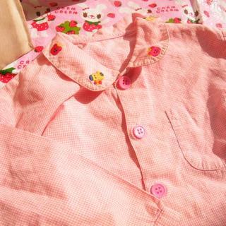 ミキハウス(mikihouse)のミキハウス miki house 90かわいい長袖ブラウス ☆彡美品です(ブラウス)