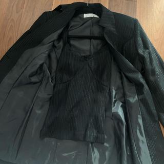 アメリヴィンテージ(Ameri VINTAGE)のストライプジャケット、キャミソールのセットアップ(キャミソール)