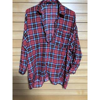 ヘザー(heather)の赤チェックシャツ Heather ヘザー(シャツ/ブラウス(長袖/七分))