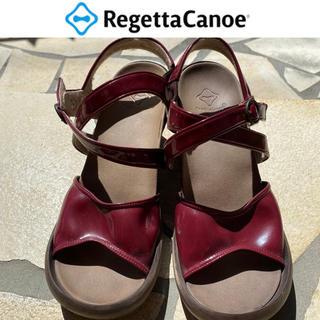 リゲッタカヌー(Regetta Canoe)のリゲッタカヌー サンダル レッド レディース LLサイズ(サンダル)