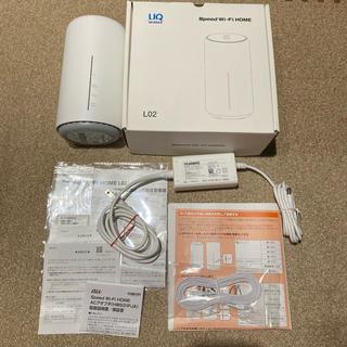 エーユー(au)のHuawei UQ WiMAX SPEED WiFi HOME L02 (PC周辺機器)