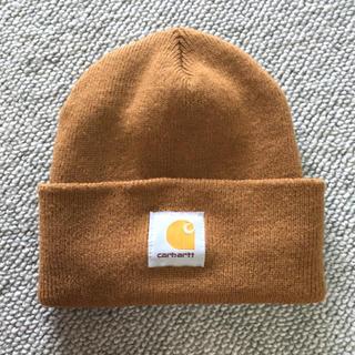 カーハート(carhartt)のcarhartt カーハート ニットキャップ ニット帽 ブラウン カナダ製(ニット帽/ビーニー)