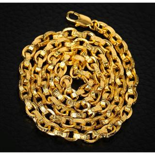 クロムハーツ(Chrome Hearts)の梵字彫 22k仕上げ ゴールド ペーパーチェーン ネックレス クロムハーツ好きに(ネックレス)