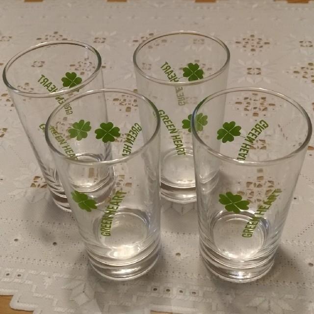 東洋佐々木ガラス(トウヨウササキガラス)のグリーンハート グラス コップ 4個 インテリア/住まい/日用品のキッチン/食器(グラス/カップ)の商品写真