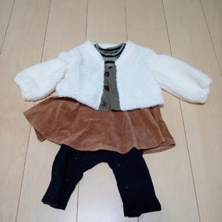 アンパサンド(ampersand)の子供服 秋冬 女の子80 Ampersand BREEZE で買いました。(ロンパース)