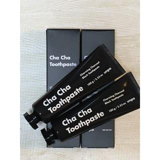 【新品】チャチャ 歯磨き粉 ChaCha Toothpaste 黒 2本セット(歯磨き粉)