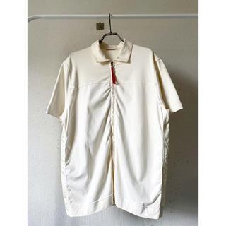 プラダ(PRADA)のイタリア製 prada プラダ 白 ナイロン シャツ カットソー Tシャツ(シャツ)