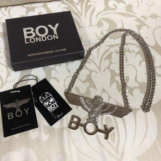 ボーイロンドン(Boy London)のBOY LONDON ボーイロンドン ロゴ ネックレス シルバー(ネックレス)