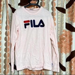 フィラ(FILA)のロンT FILA Fila フィラ 長袖 長袖Tシャツ ピンク ロゴ(Tシャツ(長袖/七分))