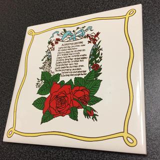 フェリシモ(FELISSIMO)の新品 アート輸入タイル コースター14 Christmas GREETING(収納/キッチン雑貨)