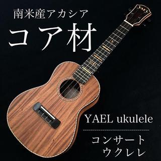 【YAEL】南米産アカシアコア材のコンサートウクレレ【プロ調整】(その他)