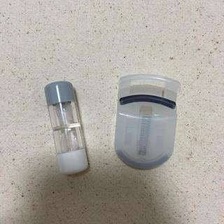 ムジルシリョウヒン(MUJI (無印良品))の無印 MUJI ハードコンタクトレンズケース 携帯用ビューラー(ビューラー・カーラー)