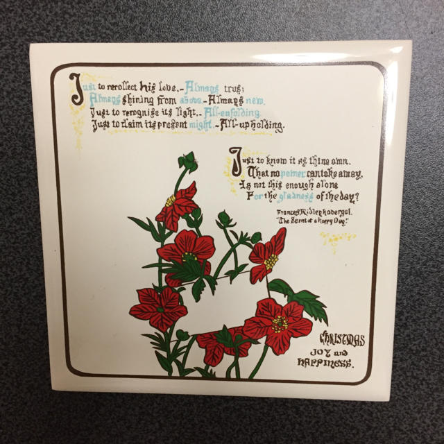 FELISSIMO(フェリシモ)の新品 アートタイル 輸入 コースター 13 JOY and Happiness インテリア/住まい/日用品のキッチン/食器(その他)の商品写真
