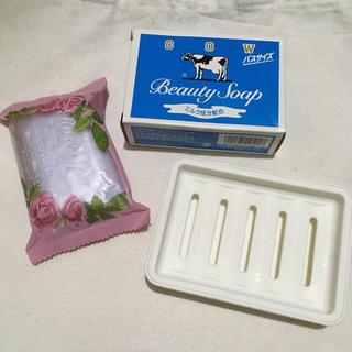 カウブランド(COW)の牛乳石鹸・ローズソープ セット(ボディソープ/石鹸)