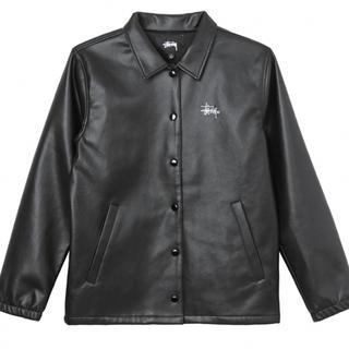 STUSSY - stussy pu coach jacket ステューシー ジャケット