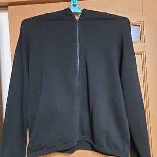 ムジルシリョウヒン(MUJI (無印良品))のMUJILABO(無印良品) 綿裏毛ドロップショルダージップアップパーカー・黒(パーカー)