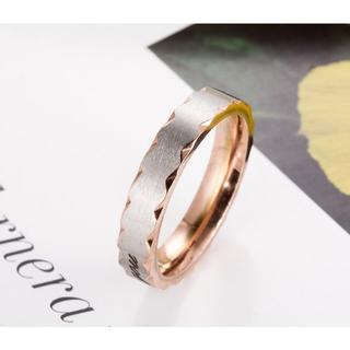 指輪 チタンリング ピンクゴールド シルバー 24号(リング(指輪))