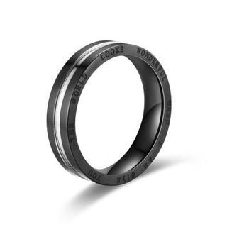 指輪 ステンレスリング ブラック×シルバー(リング(指輪))