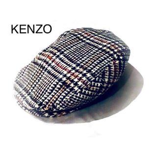 ケンゾー(KENZO)の【KENZO】グレンチェック*千鳥格子*ウール.ハンチング*(ハンチング/ベレー帽)