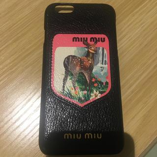 ミュウミュウ(miumiu)の正規品ミュウミュウiPhoneケース(iPhoneケース)