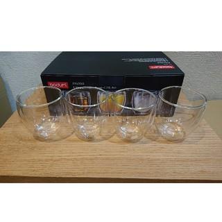 ボダム(bodum)のボダム ダブルウォールグラス 250ml×4個 パヴィーナ 新品【専用箱発送】(グラス/カップ)