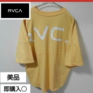 ルーカ(RVCA)の美品!RVCA ルーカ オーバーサイズボックスロゴTシャツ 厚手生地(Tシャツ/カットソー(半袖/袖なし))
