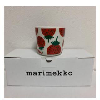 マリメッコ(marimekko)のマリメッコ ラテマグ マンシッカ いちご(グラス/カップ)