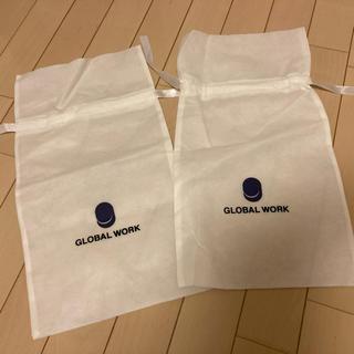 グローバルワーク(GLOBAL WORK)のグローバルワーク ショッパー ギフトバッグ ラッピング 巾着 不織布 靴袋(ショップ袋)