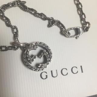 Gucci - グッチ インターロッキング ネックレス 燻 ラージサイズ
