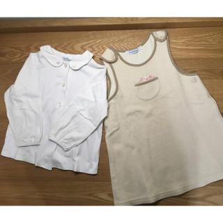 familiar - ファミリア ブラウス&ジャンバースカート 90cm