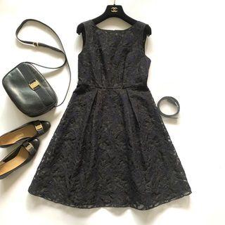 JILLSTUART - 未使用*超美品 ジルスチュアート シアーレース ワンピース 黒 ドレス ベルト付
