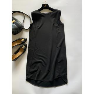 フォクシー(FOXEY)の超美品*ヨーコチャン ノースリーブ ドレス ブラック 黒 ワンピース(ミニワンピース)