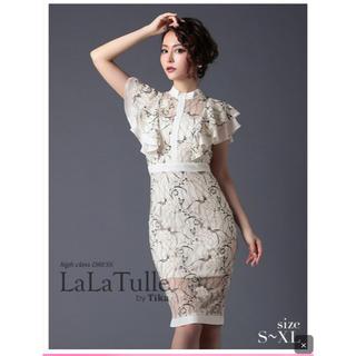 ♡Tika♡美品フリルスリーブ刺繍タイトミニドレス