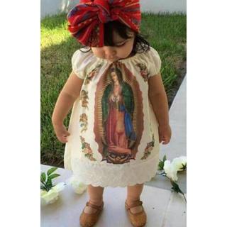 要コメント♡一年中着れる♡レア♡聖母マリア♡ワンピース♡ドレス♡バンダナ付き(ワンピース)