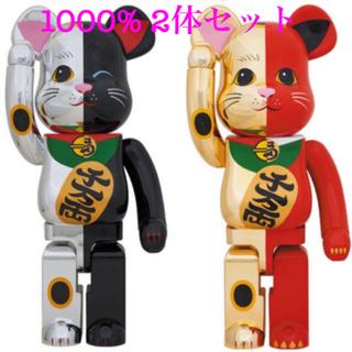 ベアブリック 招き猫 1000% 金/赤 銀/黒 セット ソラマチ限定(その他)