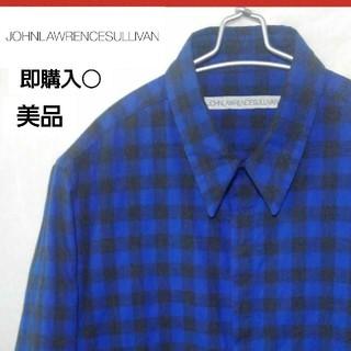 ジョンローレンスサリバン(JOHN LAWRENCE SULLIVAN)の美品!JOHN LAWRENCE SULLIVAN 比翼チェックシャツ(シャツ)