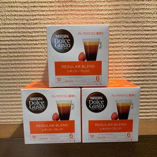 ネスレ(Nestle)のネスカフェ ドルチェグスト レギュラーブレンド 16杯分✖️3箱(コーヒー)