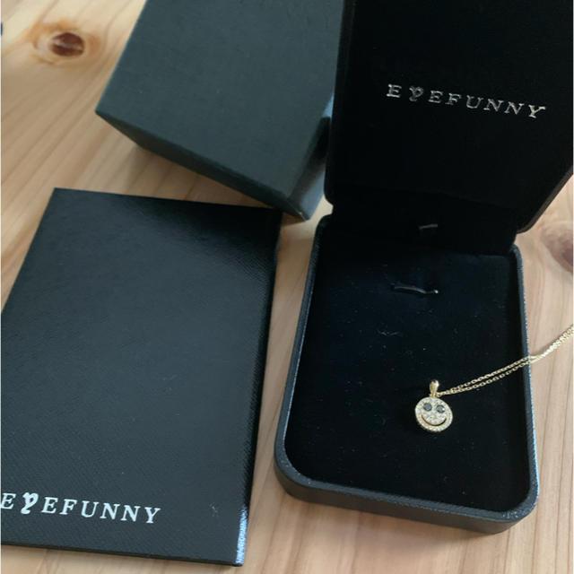 EYEFUNNY(アイファニー)のアイファニー  ペンダント ゴールド 18k ダイヤ ブラックダイヤモンド メンズのアクセサリー(ネックレス)の商品写真