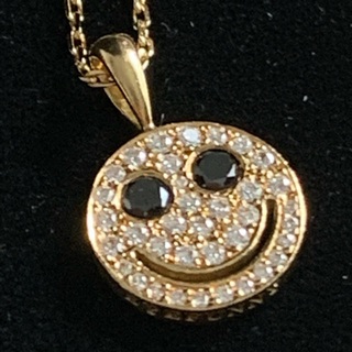 EYEFUNNY - アイファニー  ペンダント ゴールド 18k ダイヤ ブラックダイヤモンド