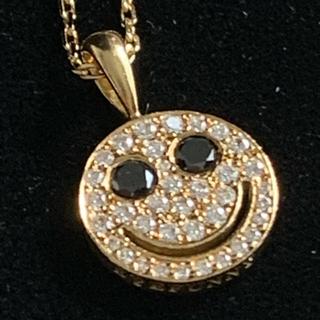 アイファニー(EYEFUNNY)のSALE!アイファニー  ペンダント ゴールド 18k ブラックダイヤモンド(ネックレス)