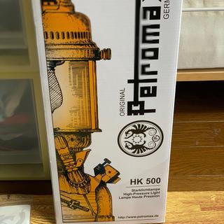 ペトロマックス(Petromax)の新古品!!超美品!!ペトロマックスHK500 ニッケル(ライト/ランタン)