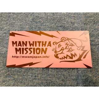 マンウィズアミッション(MAN WITH A MISSION)のマンウィズ  ネズミステッカー 未使用(ミュージシャン)
